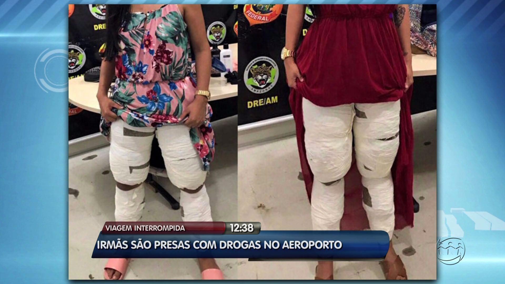 ''DEU RUIM'': IRMÃS COLAM DROGAS NO CORPO E SÃO PRESAS NO AEROPORTO - ALÔ AMAZONAS - 30/03/2017 - Alô Amazonas 30/03/2017