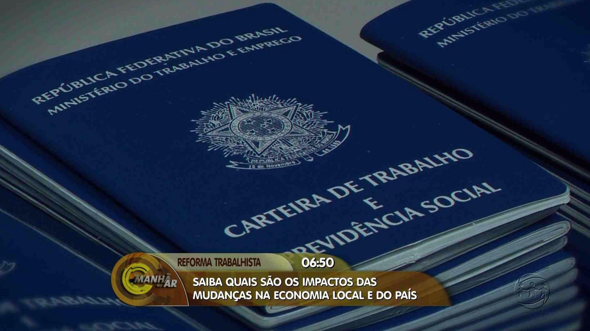 REFORMA TRABALHISTA: ENTENDA AS MUDANÇAS NA ECONOMIA LOCAL E DO PAÍS - Manhã no Ar 11/08/17