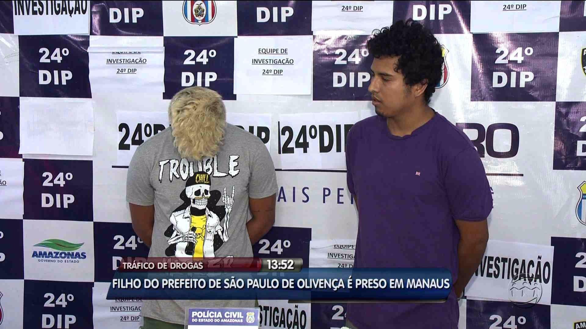 TRÁFICO: FILHO DE PREFEITO É PRESO EM MANAUS - Alô Amazonas - 16/08/17