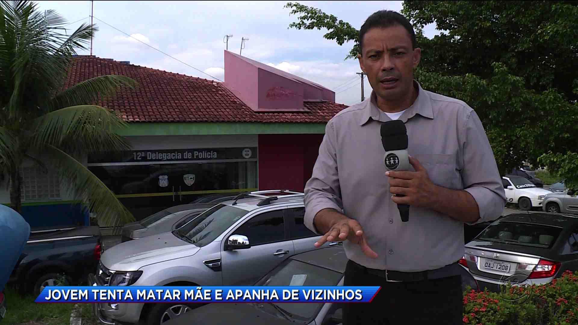 JOVEM TENTA MATAR MÃE E APANHA DE VIZINHOS - Cidade Alerta Manaus 13/10/17