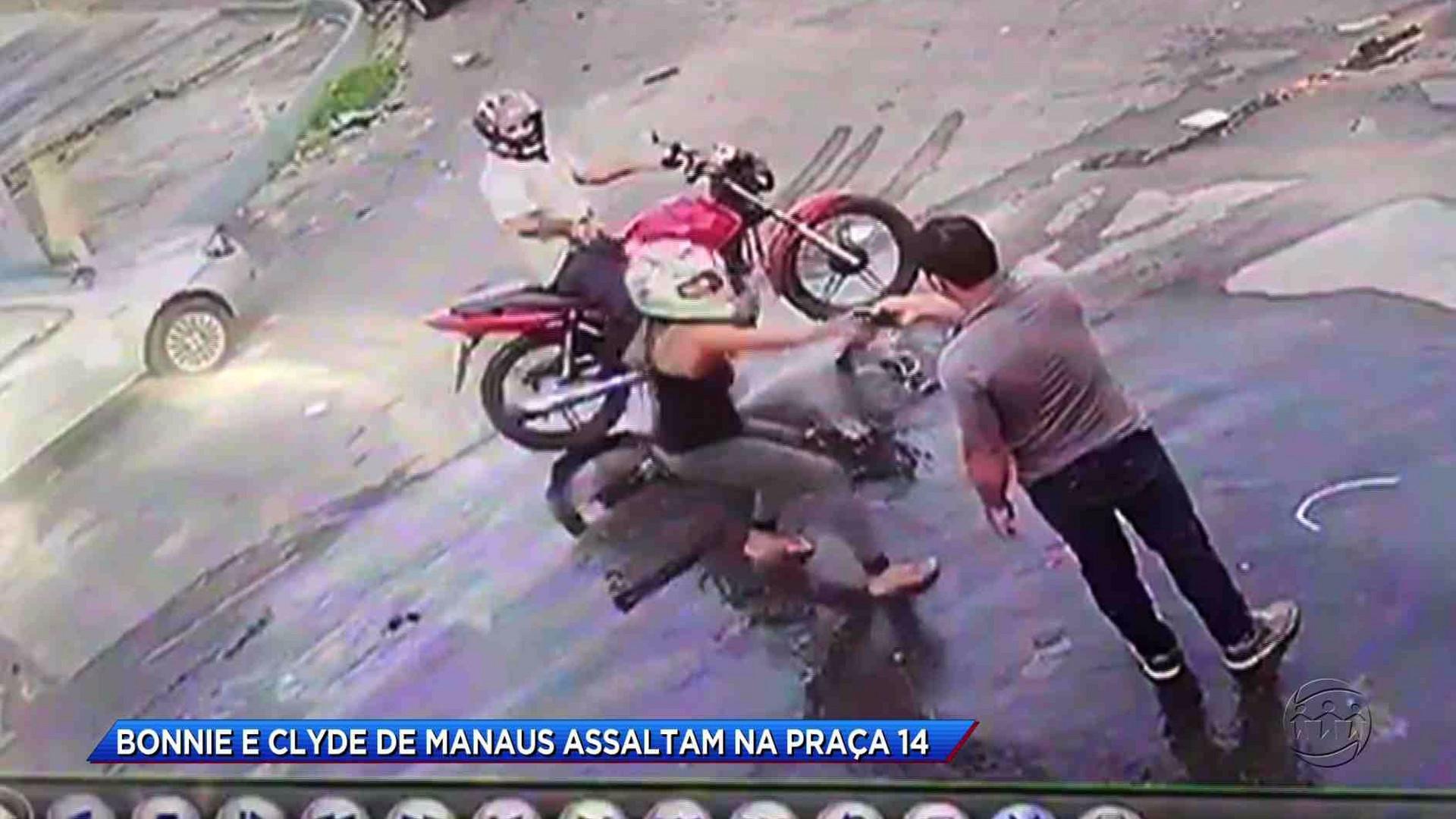 CASAL DE ASSALTANTES ATERRORIZAM MORADORES DO BAIRRO NA PRAÇA 14 - Cidade Alerta Manaus 18/10/17