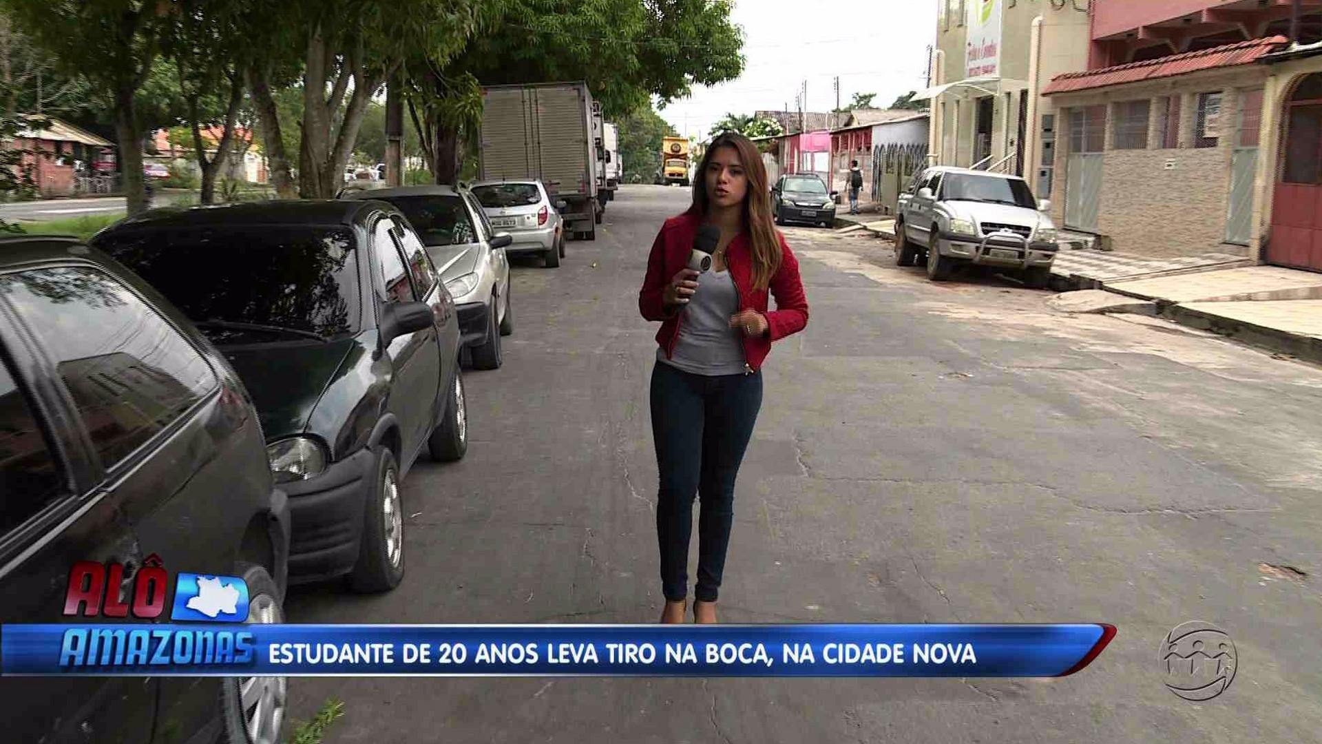 ESTUDANTE LEVA TIRO NA BOCA E TEM OS LÁBIOS PERFURADOS - Alô Amazonas 17/11/17
