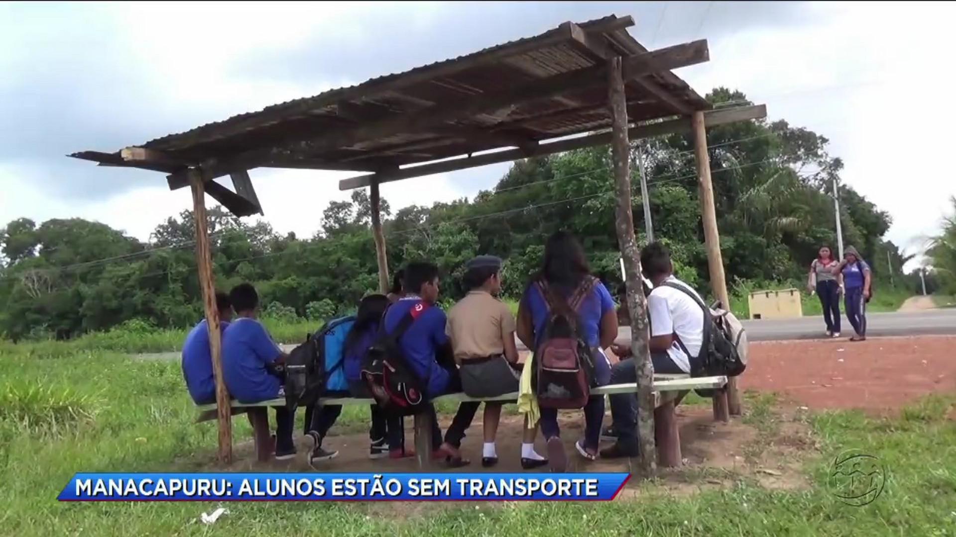 ALUNOS ESTÃO SEM TRANSPORTE ESCOLAR EM MANACAPURU - Cidade Alerta Manaus - 17/11/17