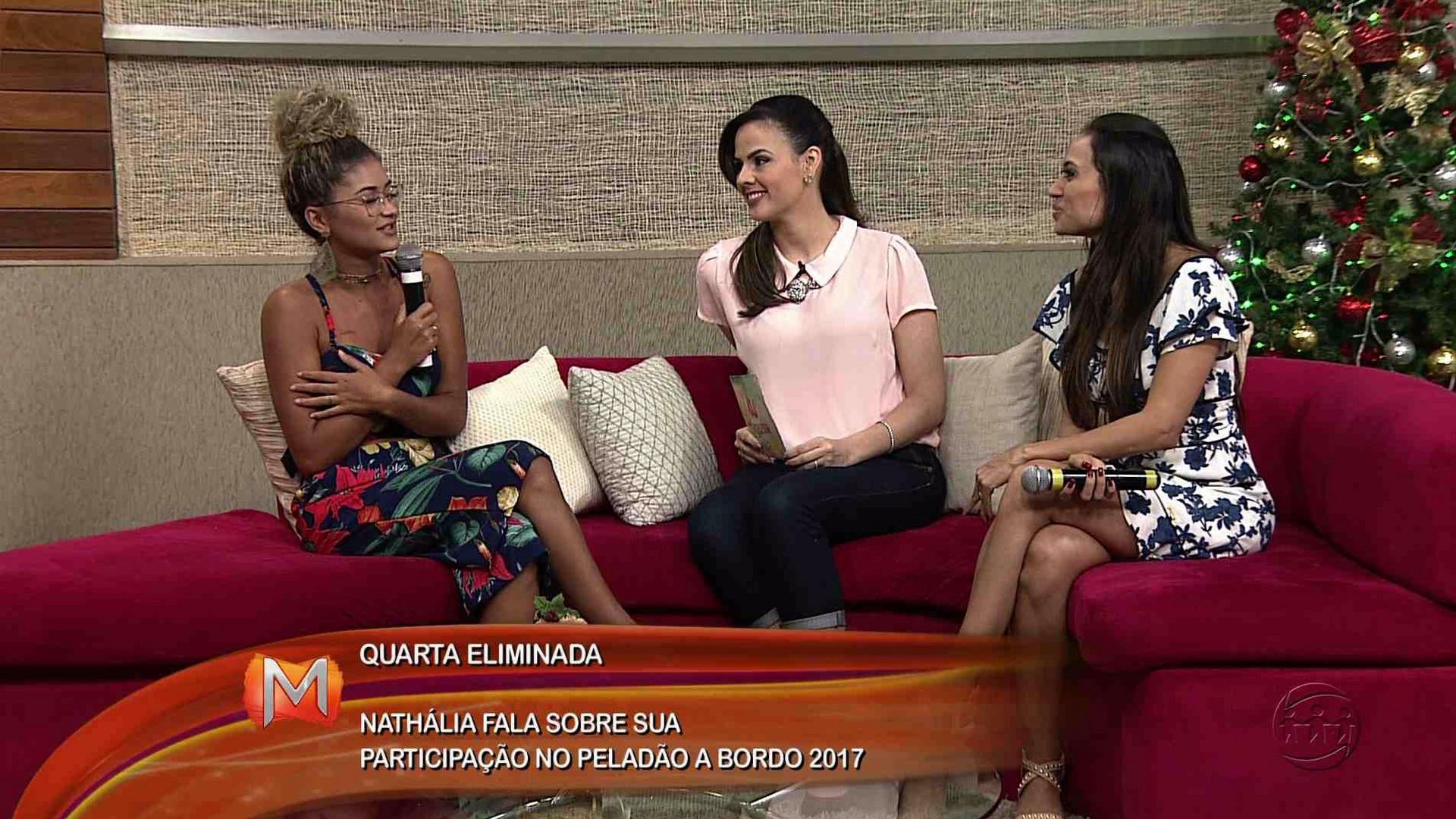 ENTREVISTA: NATHÁLIA SOUSA É A QUARTA ELIMINADA DO PELADÃO A BORDO - Magazine 07/12/17