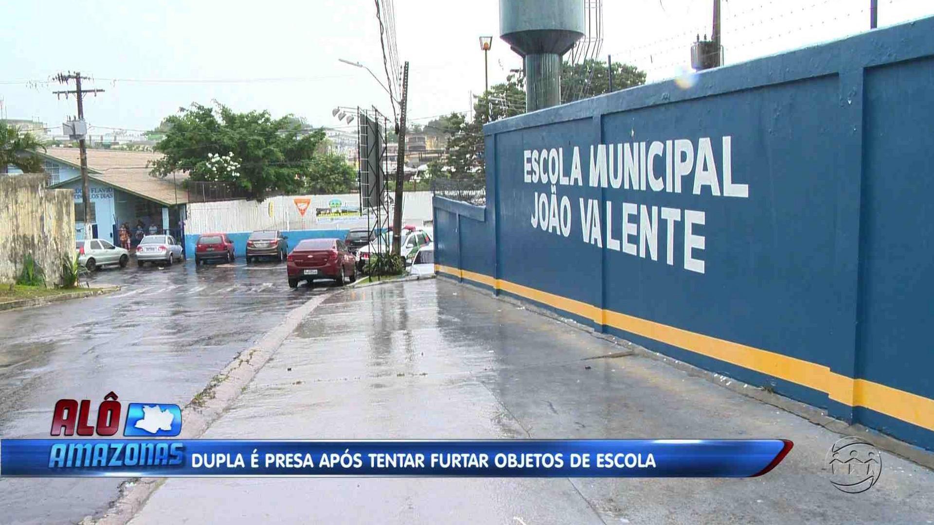 DUPLA É PRESA APÓS TENTAR FURTAR ESCOLA MUNICIPAL - Alô Amazonas 11/12/17