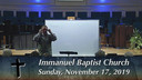 IBC 11-17-19 Sunday Evening Service Immanuel Baptist Church Lebanon, TN