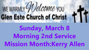 Glen Este Church of Christ Sermon 3-8-2020