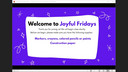 Joyful Fridays: G is for Grateful